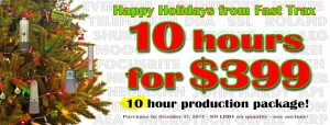 Holiday Special! 10 hours for $399!